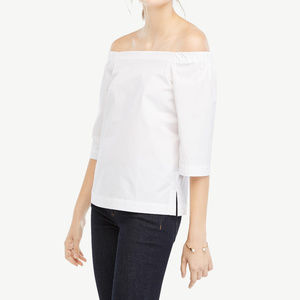 Ann Taylor White Off The Shoulder Top M